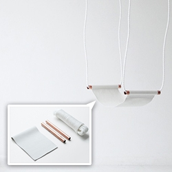 DIY Copper/Leather Indoor Swing - collaboration between Urban Outfitters and Love Aesthetics' Ivania Carpio