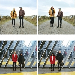Switcheroo, a cool photography project by Hana Pesut, in which couples change clothes with each other.