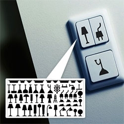 INTERRUPTUS by 2CREATIVO - nice idea of graphic stickers to help label light switches!