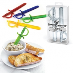 Sword'ouevres ~ giant mini swords for spreading dip/cream cheese/etc ~ from Fred!