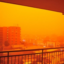 A storm of red dust engulfed Sydney today, grounding flights and resulting spectacular photographs of the city.