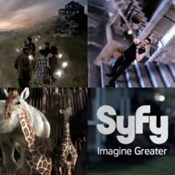 Syfy ~ IMAGINE GREATER! Love it ~ check out this beautifully inspiring new video opening up the world of the newly rebranded SciFi ~ from escher-esque football to animal balloons to so much more!