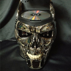 The Endoskeleton Skull from The Terminator and T2 has been turned into a DVD Player.
