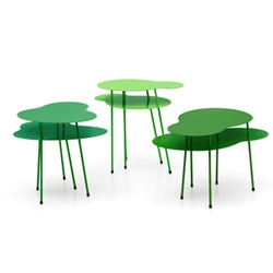 Green Amazonas nesting tables by Eero Koivisto for Offecct