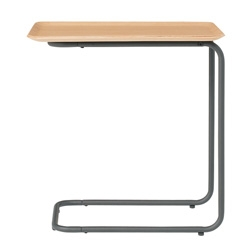 Muji Steel Pipe Side Table - Natural wood.