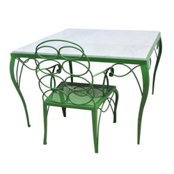 Downtown's  Frances Elkins Outdoor Dining Table and Chair
