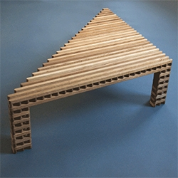 Ian Stell's Lattice Table - it's fascinating to watch the video of how it transforms shapes