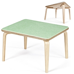 Modernica Case Study Fiberglass/Bent Plywood Demi Table - adorably cute and available in just about every color to match your Eames chairs