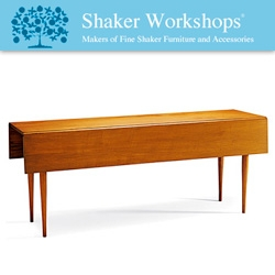 When looking for dining tables, i found these Shaker Workshop tables that you have the option of building/staining yourself even... nice, clean, classic designs