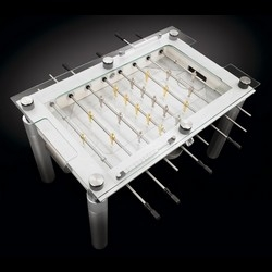 Table Portfolio offers for table soccer nostalgic, the Lux Minimalist Foosball.