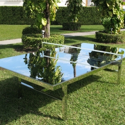 Nyehaus brings Ping Pong to the table in this exhibition. Celebrities of the ping pong world will play matches against one other and with spectators on this mirrored regulation sized table by Rirkrit Tiravanija.