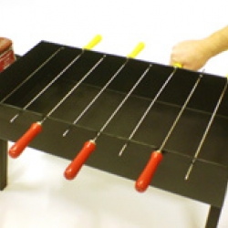 ken goldman's table soccer bbq the perfect grill for your next tailgating party!