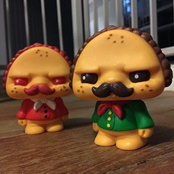 Paco Taco! Scott Tolleson's newest foodie character made his debut at STGCC over the weekend. Produced by Pobber.
