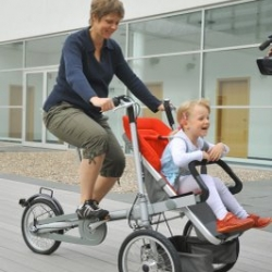 Taga Convertible Bicycle, a more modern take on the European baby carrier bicycle.
