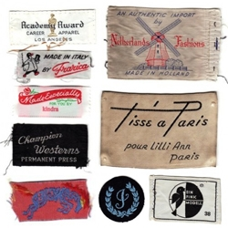 The World Famous Design Junkies continue to collect with this Kindra Murphy-inspired set of vintage clothing tags from a list of contributors.