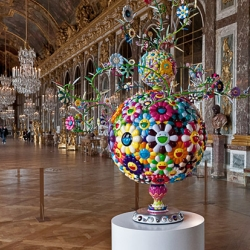 Takashi Murakami Exhibition at the Château de Versailles as photographed awesomely by Flickrer, ganymede2009.