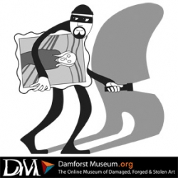 Damforst Museum is an institution dedicated to the stewardship of damaged, forged, and stolen artwork everywhere.