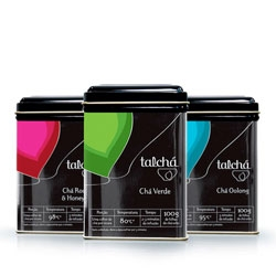 Talcha tea with packaging by A10 Design. Vibrant colors, and labels that both generate our curiosity and also informative.