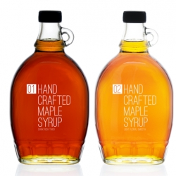 Hand crafted maple syrup by TACN Studio from Vancouver Canada