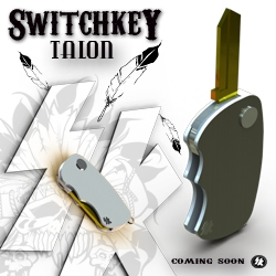 Talon, from Switchkey. A new addition taking shape, adding to the flipper style key fob line up. Prototypes this summer for field testing. Just as tough, just as fast, twice as pretty.