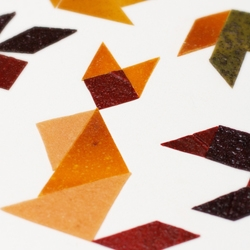 Fruit leather tangrams: play with your food with these edible puzzles.