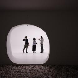 Lucèste / luce (light) + celèste (of sky) installation for Toshiba by Makoto Tanijiri (Suppose Design Office).
