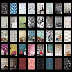 Hundreds of wallpaper patterns at 5qm.de, with every color, design and pattern you can think of. They even ship worldwide.
