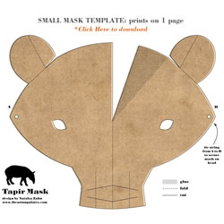 Though World Tapir Day was on April 24th, it's not too late for this fun DIY Tapir Mask by Natalya Zahn.