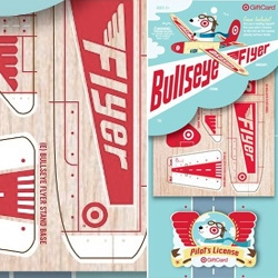 This target gift card lets you build a little wooden airplane!