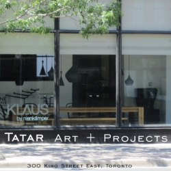 Tatar Art + Projects (formerly Tatar Gallery) invite all professional and emerging artists to submit their work for inclusion at our new location at 300 King Street East, Toronto.  Please visit us at tgaap.com