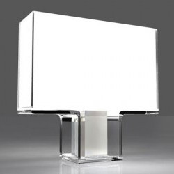 Resembling a mini flat-screen television, the Tati lamp is made out of a fluorescent circlet which is contained inside the TV-like box. Comes in four variations. I want one.