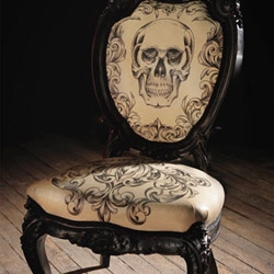 Undoubtedly artistic, this hand tattooed leather chair is made by the Mama Tried studios, run by Scott Campbell, renowned tattoo artist.