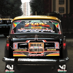Manohar and Samir Manohar Mistry have been decorating Mumbai taxis with amazing typography since 1973