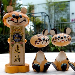 Tiger Balm Wooden Toy Prototypes that never came to be more... but so cute! They had to be documented...