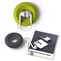 BlueLounge Cableyoyo - an earbud cord spool with a magnetic center. Also works well for small cables. Happy 10th Anniversary, BlueLounge! This is their #TBT since 10 years ago at CES they launched with the first Cableyoyo.