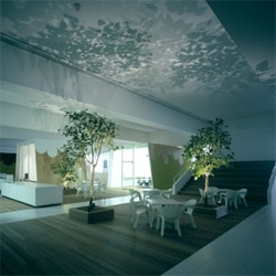 Amazing interior design for TBWA/Hakuhodo offices in Tokyo, Japan. Designed by Klein Dytham architecture. Green roofs as mini gardens, a central space similar to a skate ramp, small trees.... Love it!