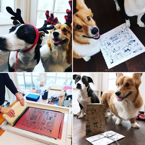 Howliday Surprise just arrived from TCB Studio (Taking Care of Business Elvis & Aretha style) - the brainchild of Charmaine Choi in collab with illustrator, Annie J Lim. Check out their print, tote, notebook, wrapping paper, dog treats and more!
