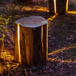 Cracked Log Lamp designed by Duncan Meerding.