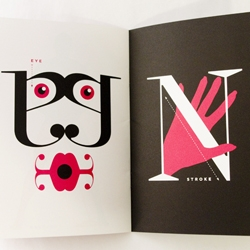 "Roberto de Vicq de Cumptich, a master of typographic illustrations, has designed the new ""How to Make Love to Your Type?"" promo for the Type Directors Club. (the book is printed on Neenah paper and uses typefaces from Veer)."