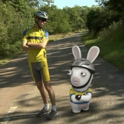 Raving Rabbids 2 - Around the World videos are hilarious... from entering the tour de france to sumo wrestling in japan!