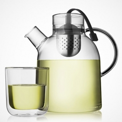 The glass kettle Tea Pot, designed by Norm Architects.