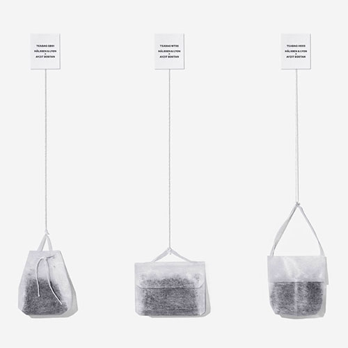 The Teabag Collection by Hälssen & Lyon x Ayzit Bostan. Five of their most famous black tea blends  created to look and feel like iconic designer handbags.