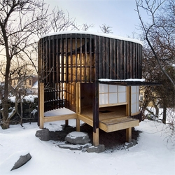 A small and comfortable tea house in Prague, designed by A1 Architects.