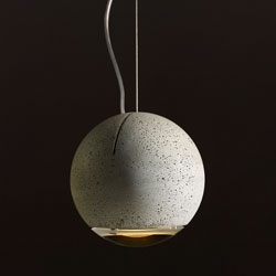 An architect's dream finally became true: a lamp made of concrete.