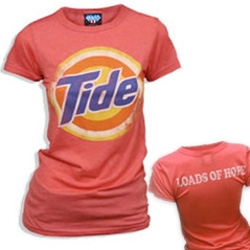 """These vintage Tide shirts are filled with Loads Of Hope ~ and come in fun red, green, blue, and yellow... and actually FROM Tide... """"All profits go towards families affected by disaster."""""""
