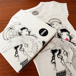 Camilla D'errico Ltd Tee ~ gorgeous printed box, print, and tee up close!