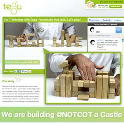 Tegu LIVE! Great interactive live stream where you can request their Master Builder to make designs with their magnetic wood blocks for you! They made me a castle with working draw bridge! Also fun packaging...
