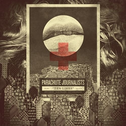 "Trapped behind a fence of boredom and routine, temptation lures you into the danger and appeal of the unknown. This describes the artwork created by Jeff Finley for the Parachute Journalists' new single ""Ten Lives."""