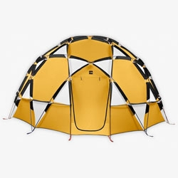 Love the design of this 2 meter dome of a tent from North Face