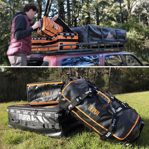 Tepui Tents Gear Bags... branching out from roof top tents, a set of bags and packs that are also roof rack ready.